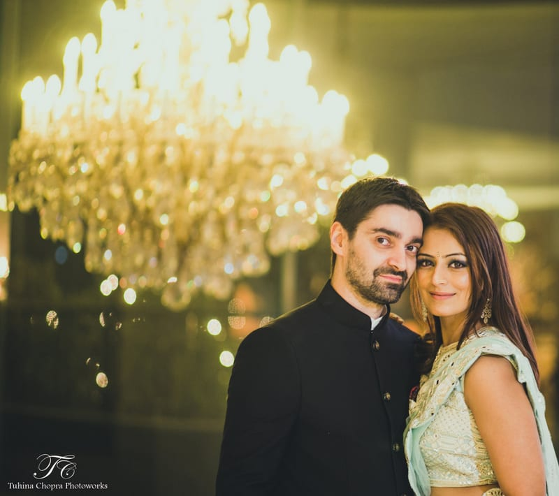 the couple!:tuhina chopra photoworks, the powder room, anita dongre
