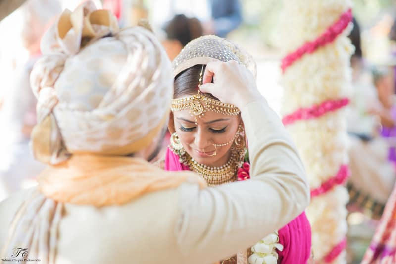 the wedding ceremony!:tuhina chopra photoworks, the powder room, anita dongre