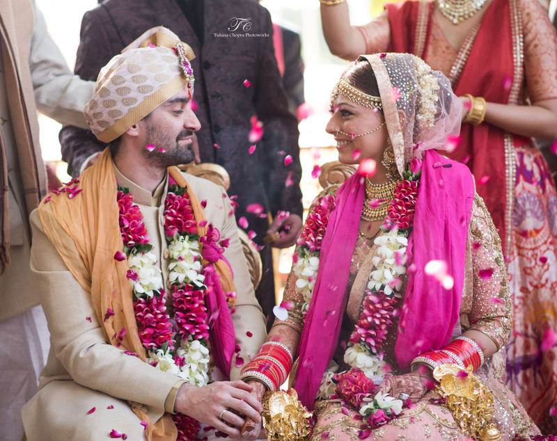 the newly weds!:tuhina chopra photoworks, the powder room, anita dongre