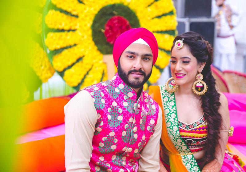 the bride & groom!:raju mehandi arts, the piccadily, mahima bhatia photography, sabyasachi couture pvt ltd, qbik, falguni and shane peacock