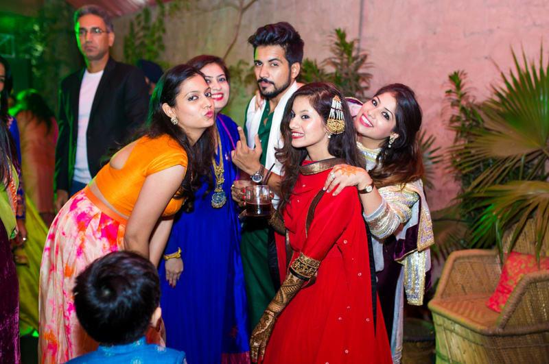 the bride gang!:avnish dhoundiyal photography, varun bahl, rani pink