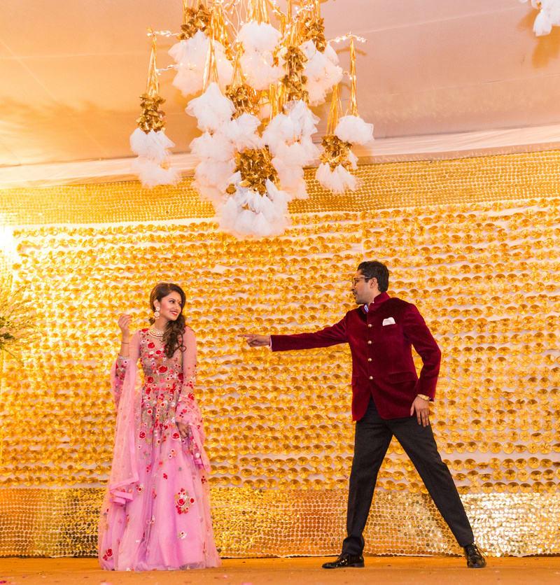 sanjana & purusharth!:avnish dhoundiyal photography, varun bahl, rani pink