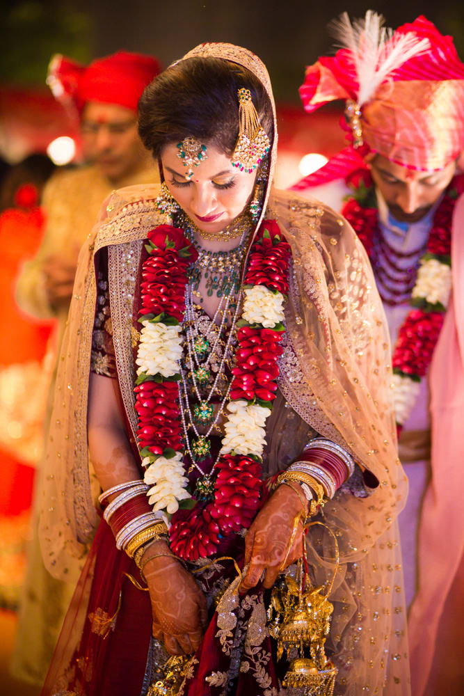 the bride sanjana!:avnish dhoundiyal photography, varun bahl, rani pink