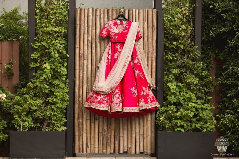 the bridal outfit!:cupcake productions, manish malhotra, anju modi, sabyasachi couture pvt ltd