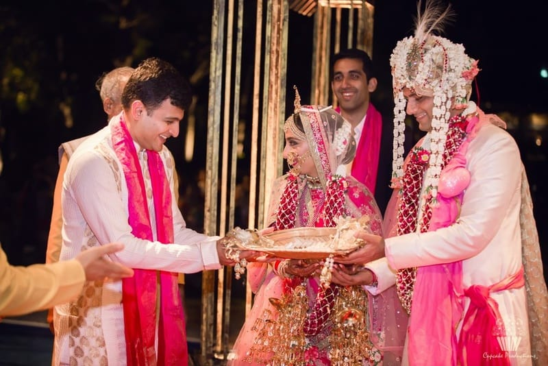 tejshree & revanta!:cupcake productions, manish malhotra, anju modi, sabyasachi couture pvt ltd