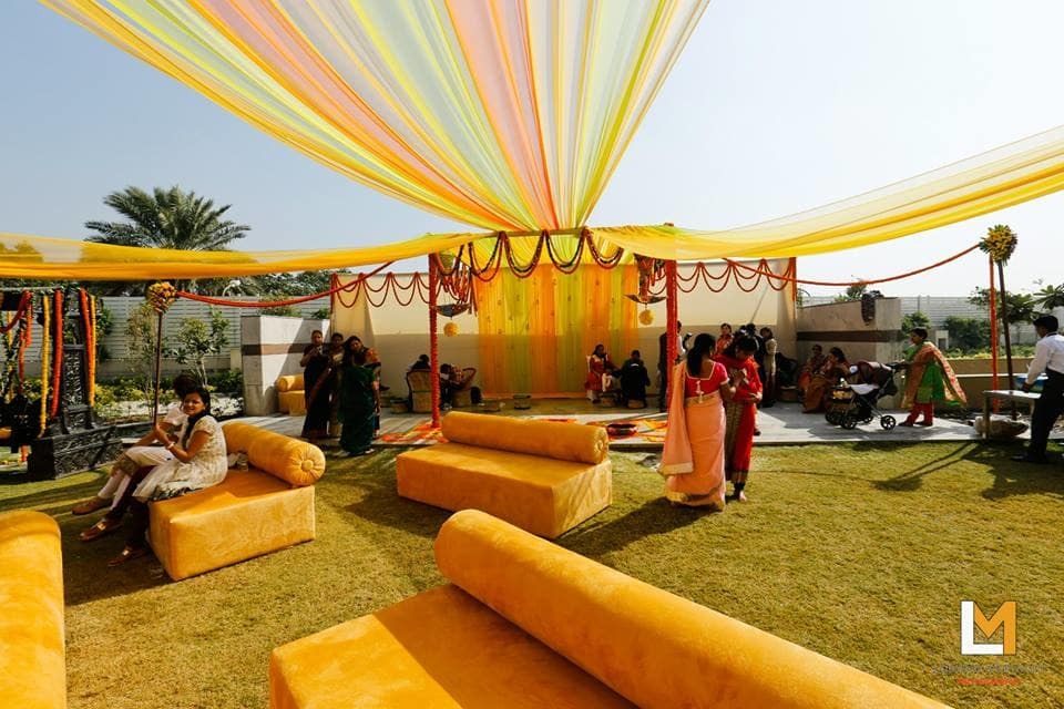 beautiful yellow venue:lakshya manwani photography