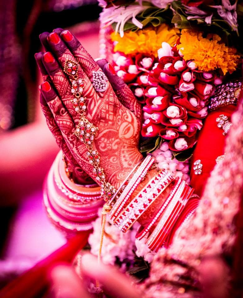 wedding rituals with bride and groom:girl in pink photography