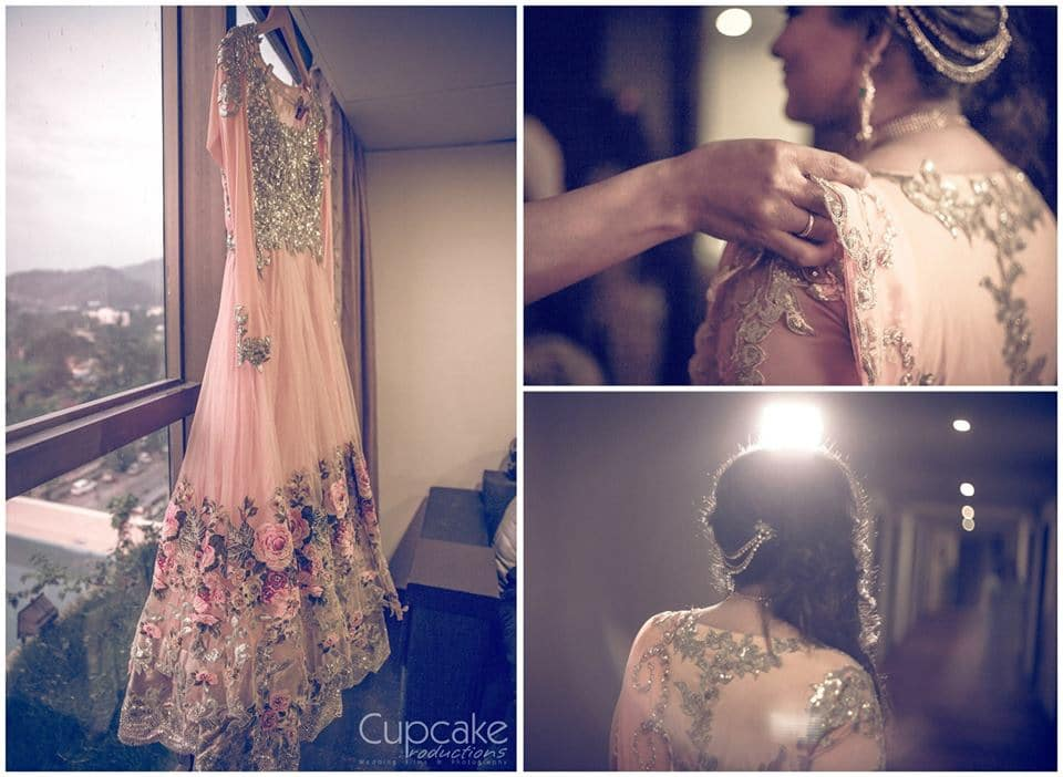 elegant sangeet outfit:cupcake productions