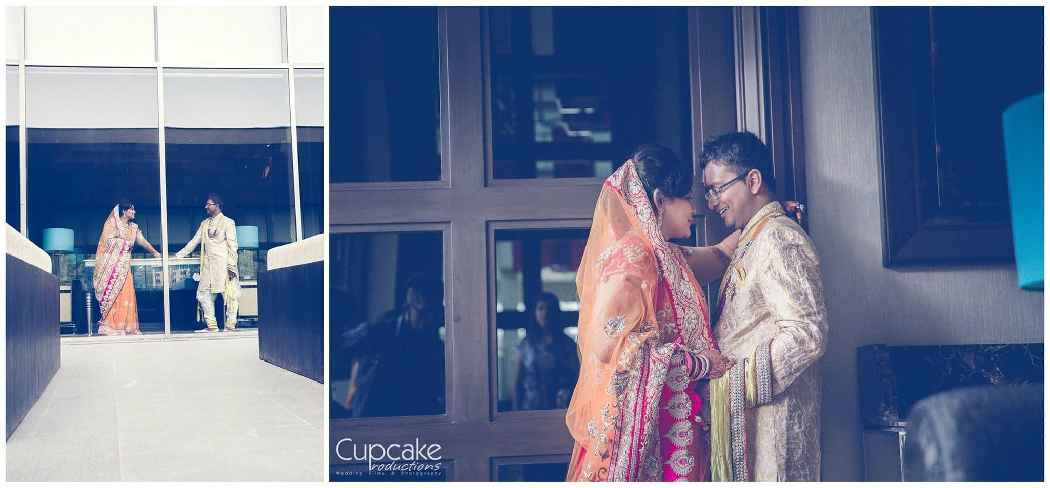 photoshoot of wedding couple: