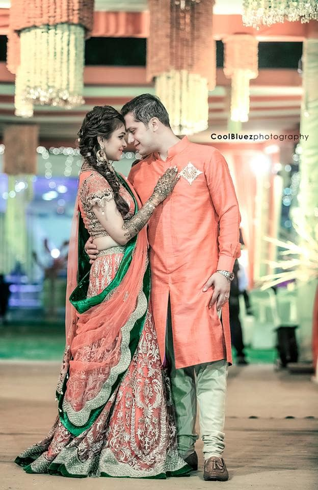 couple photograph in sangeet:coolbluez photography