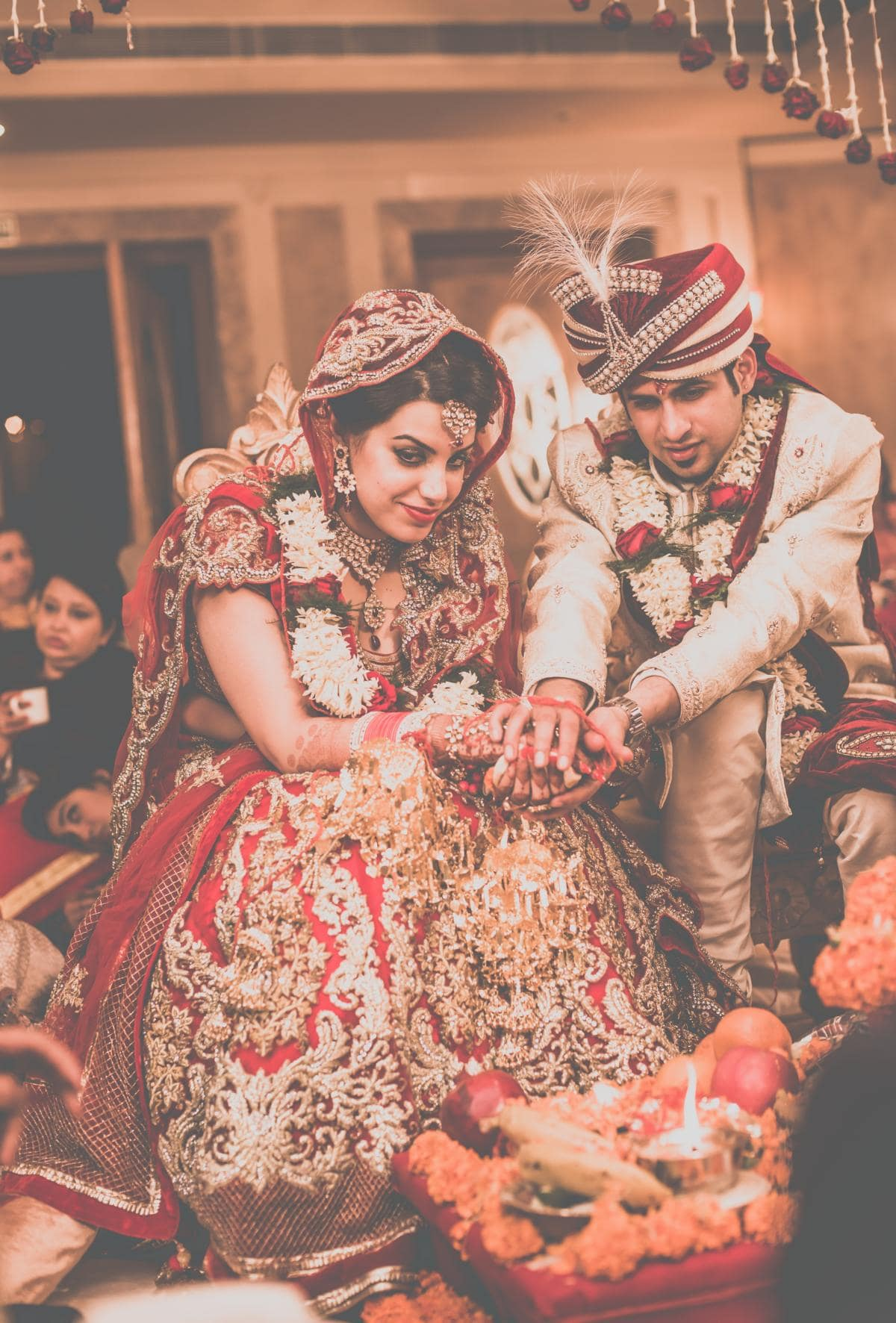 rituals performed by bride and groom:kuntal mukherjee photography