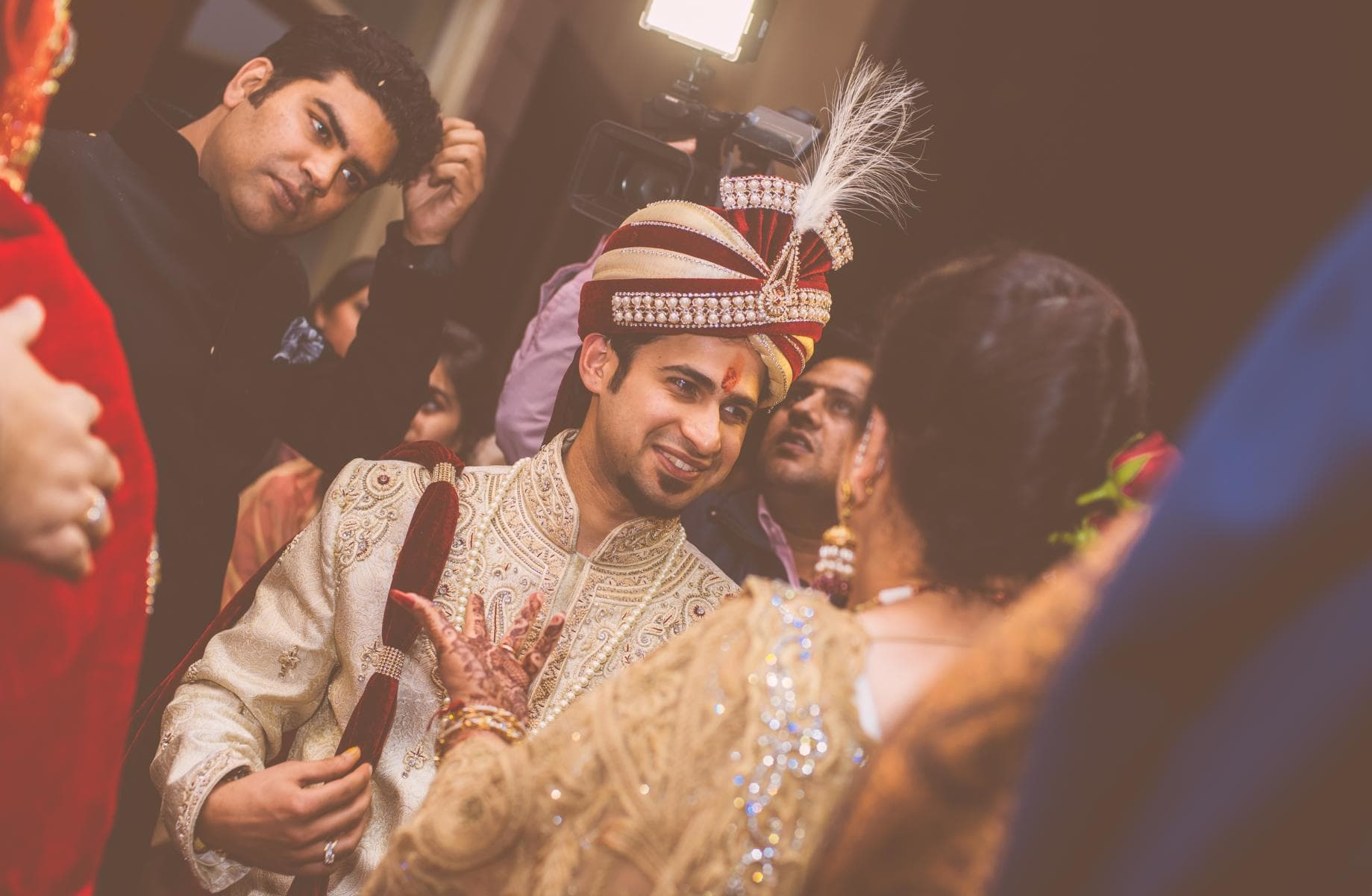 groom with turban:kuntal mukherjee photography