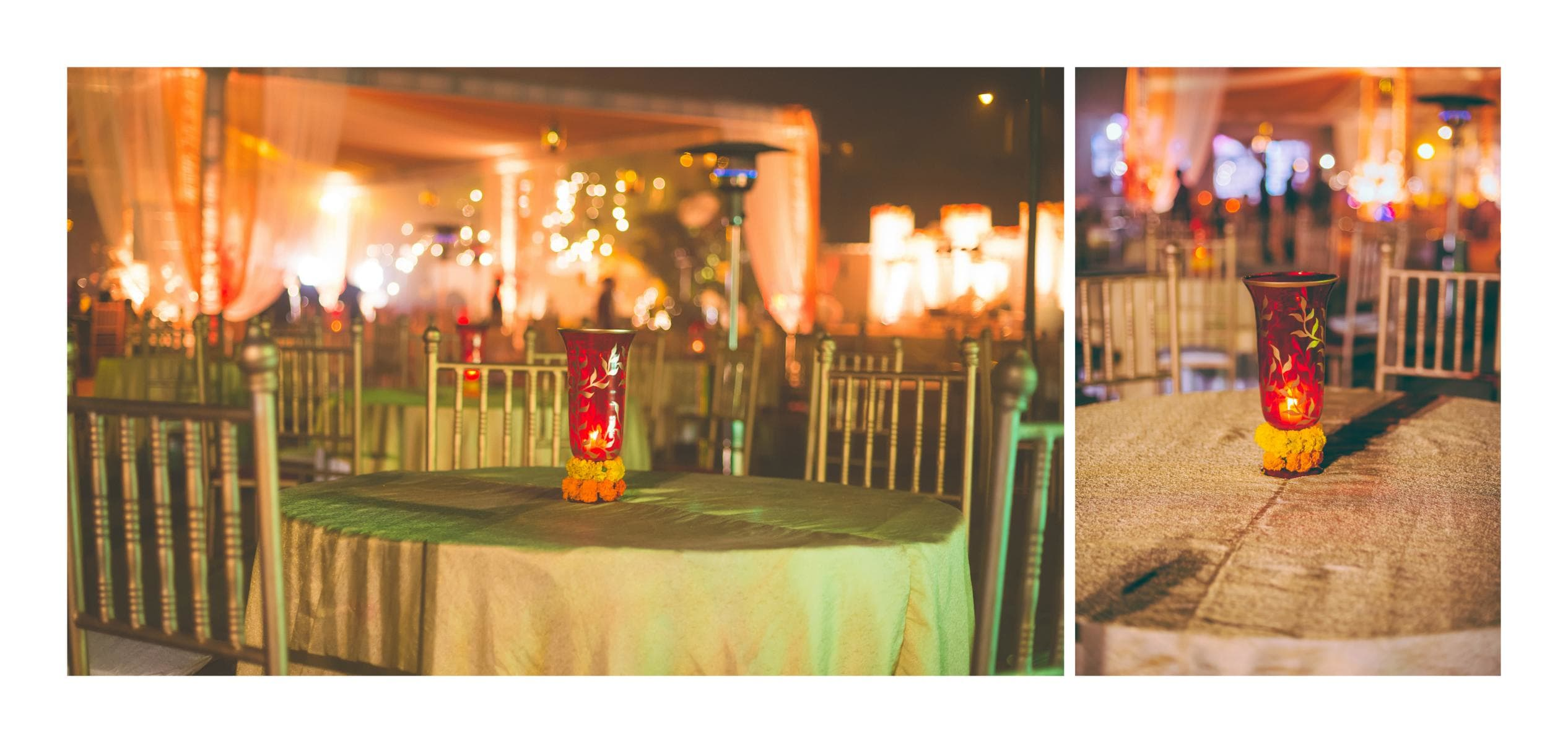 decoration with candles:kuntal mukherjee photography