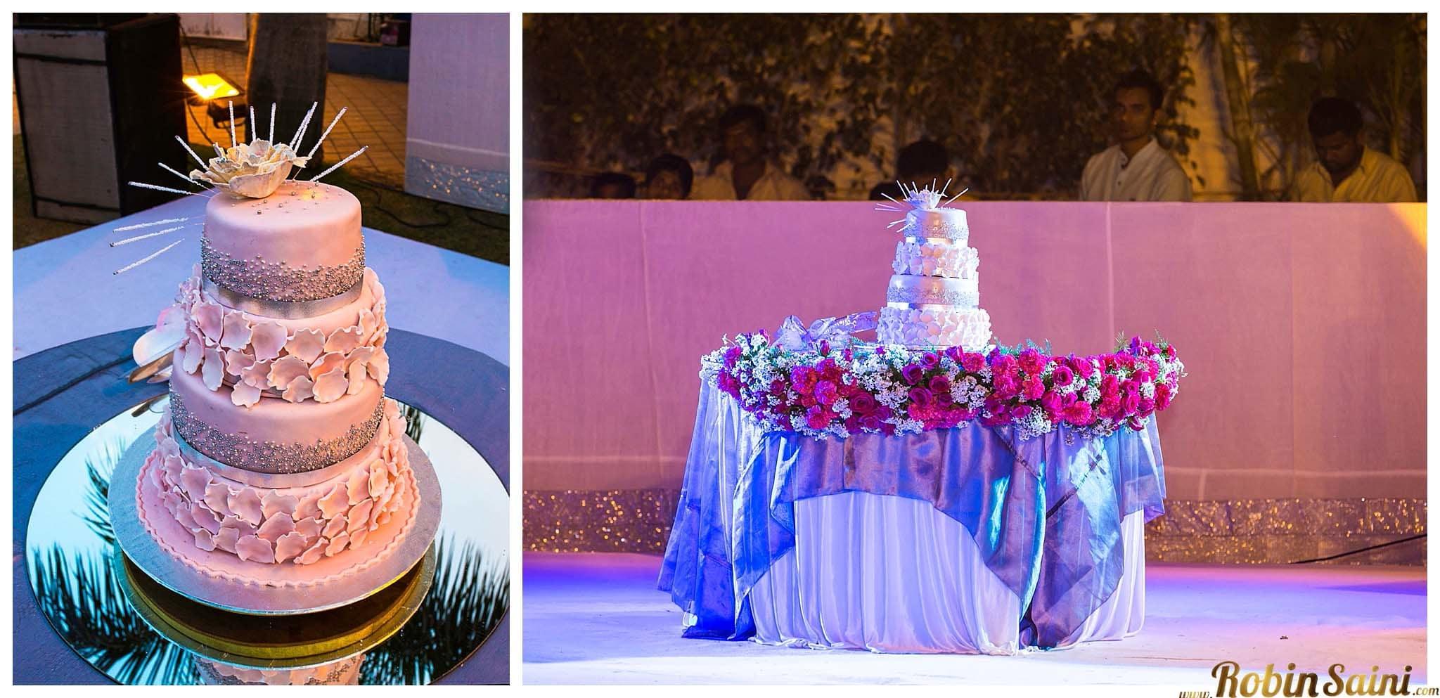 beautiful wedding cake:robin saini photography