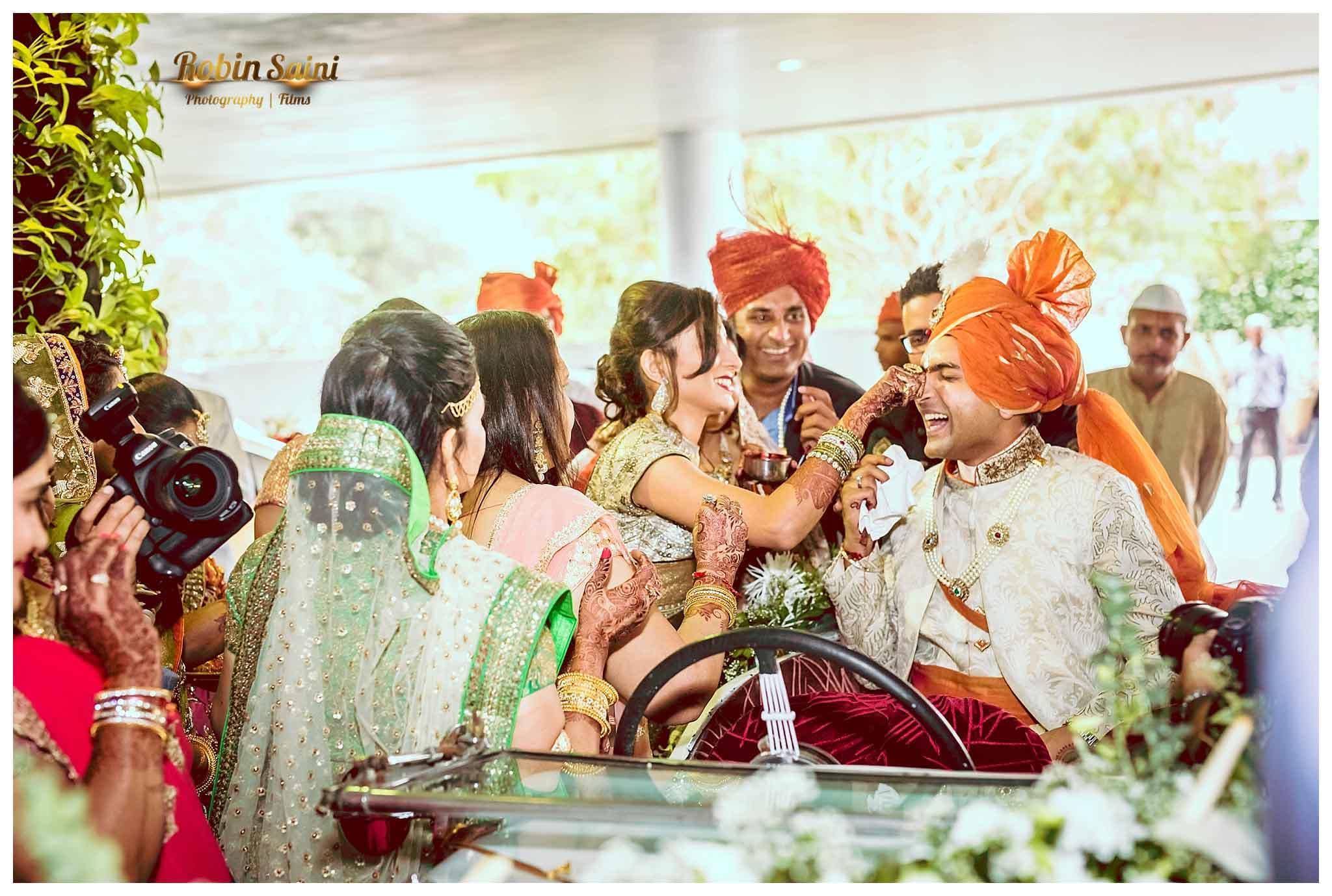 wedding rituals with groom:robin saini photography