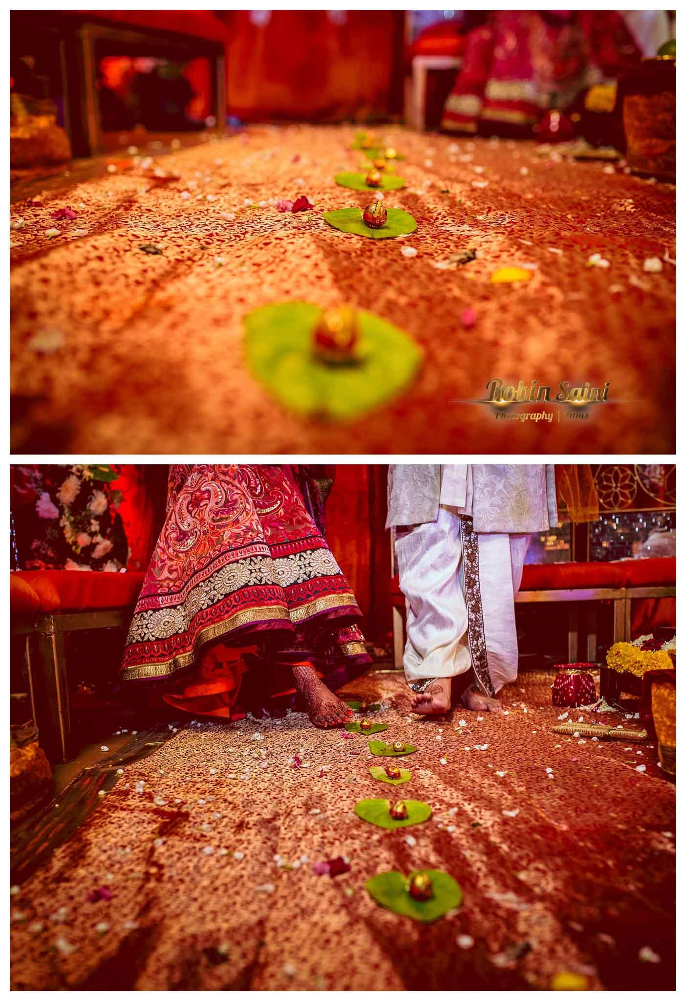 wedding rituals with bride and groom:robin saini photography