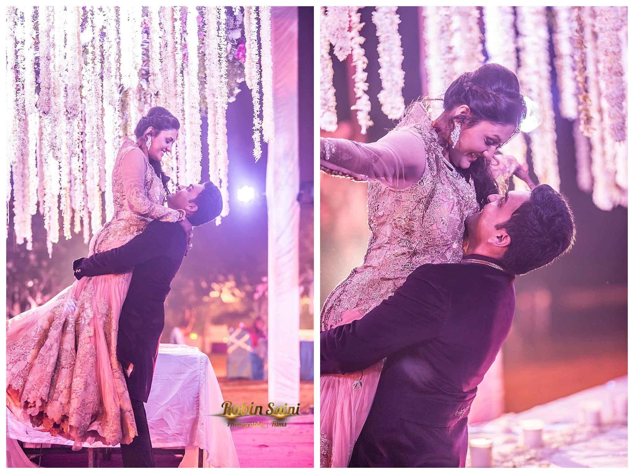 couple dance in sangeet:robin saini photography