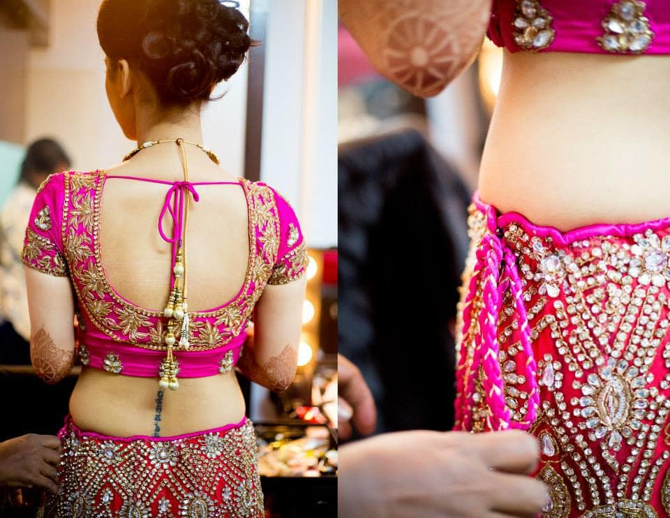 bridal outfit:girl in pink photography