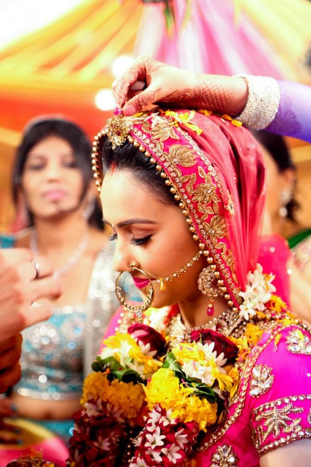 wedding rituals:girl in pink photography