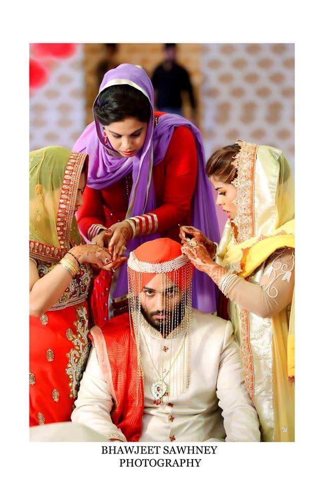 wedding rituals with groom: