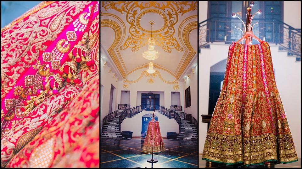 bridal lehenga:mahima bhatia photography