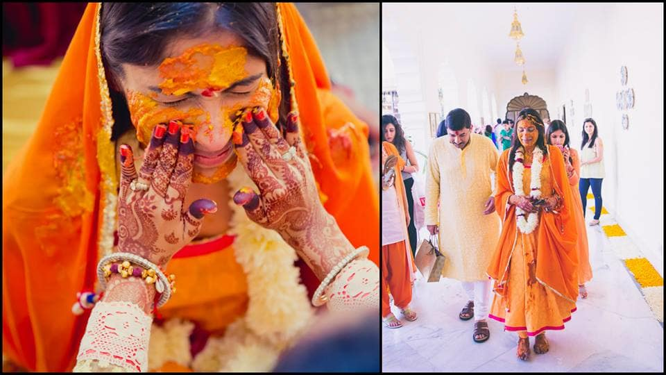wedding ritual haldi:mahima bhatia photography