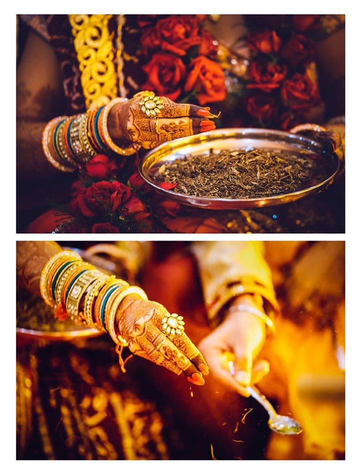 wedding rituals by bride:girl in pink photography
