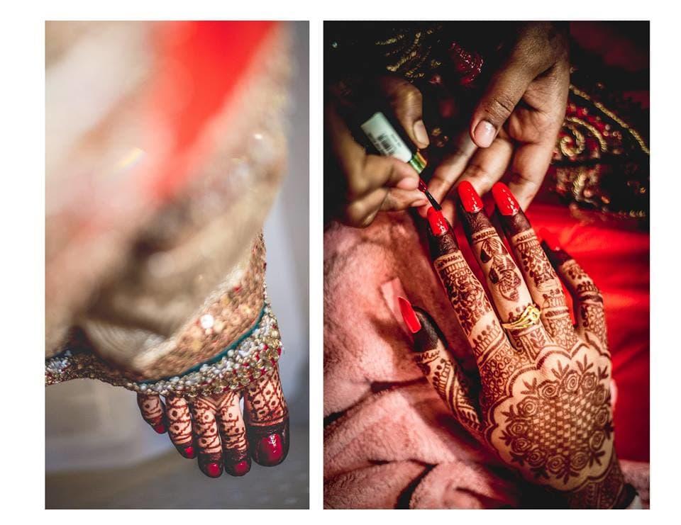 beautiful bridal mehndi:girl in pink photography