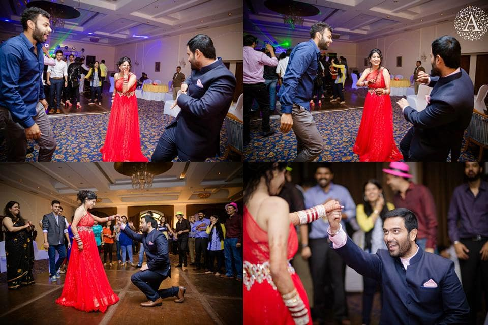 couple dance in sangeet:amour affairs