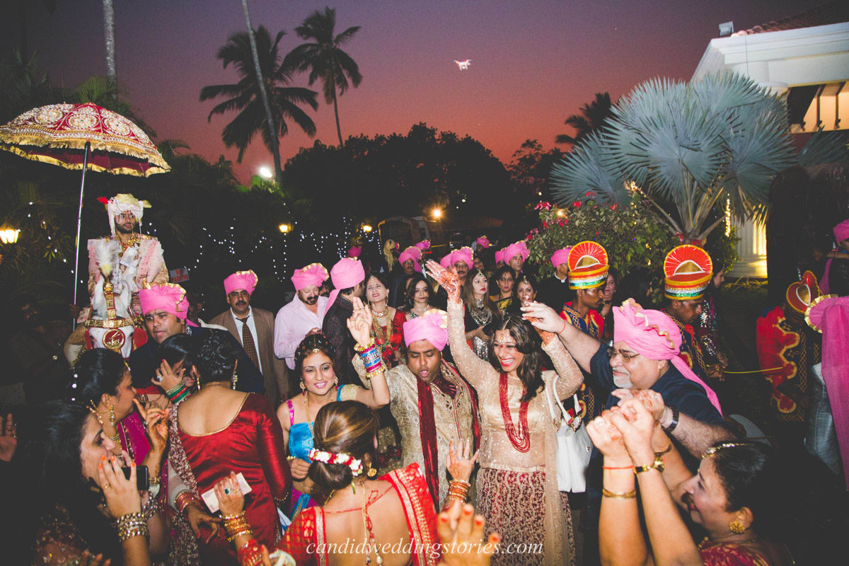 baraat dance:candid wedding stories