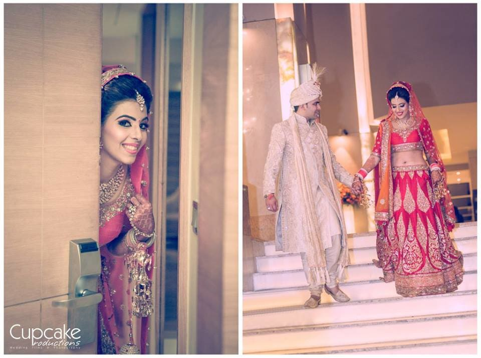 beautiful bridal lehenga:cupcake productions