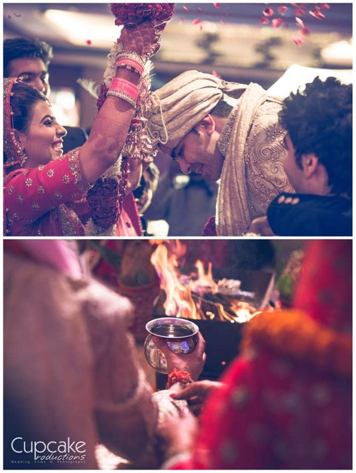wedding ritual varmala ceremony:cupcake productions