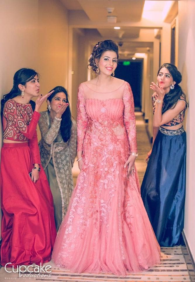 beautiful sangeet outfit:cupcake productions
