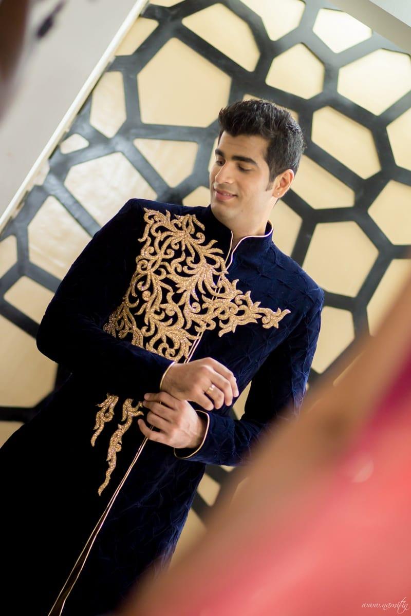 designer groom wear:namit narlawar photography