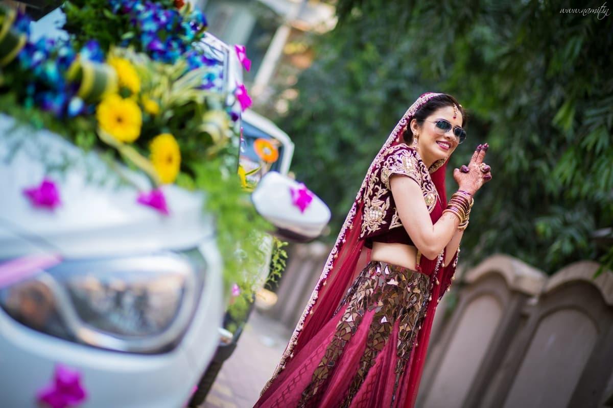 bridal  lehenga:namit narlawar photography