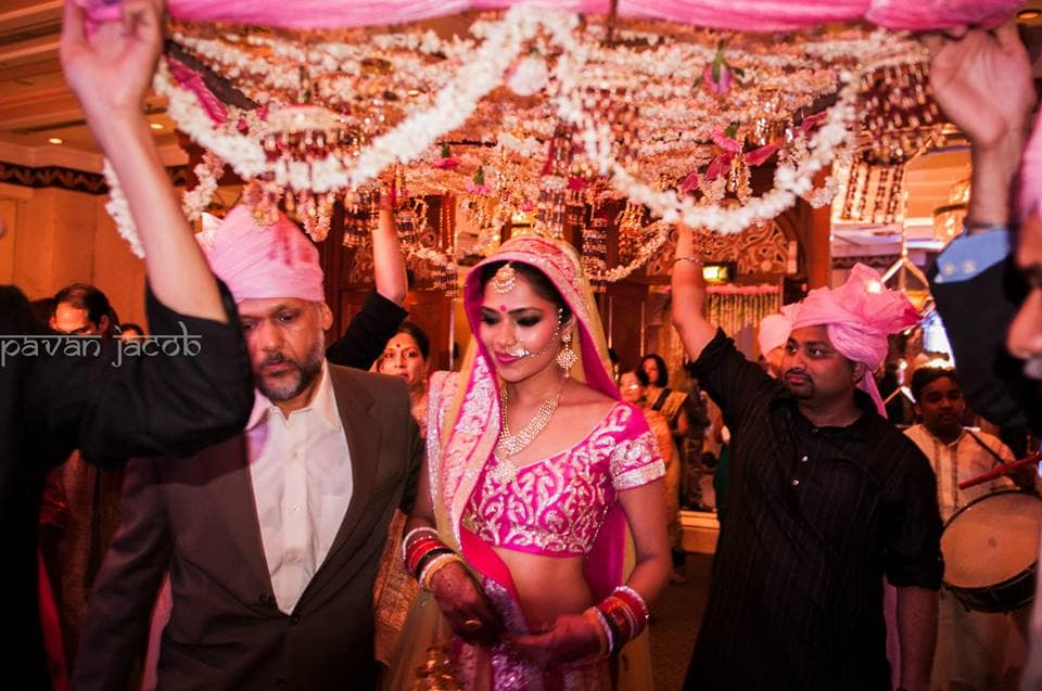 brides entry:pavan jacob photography