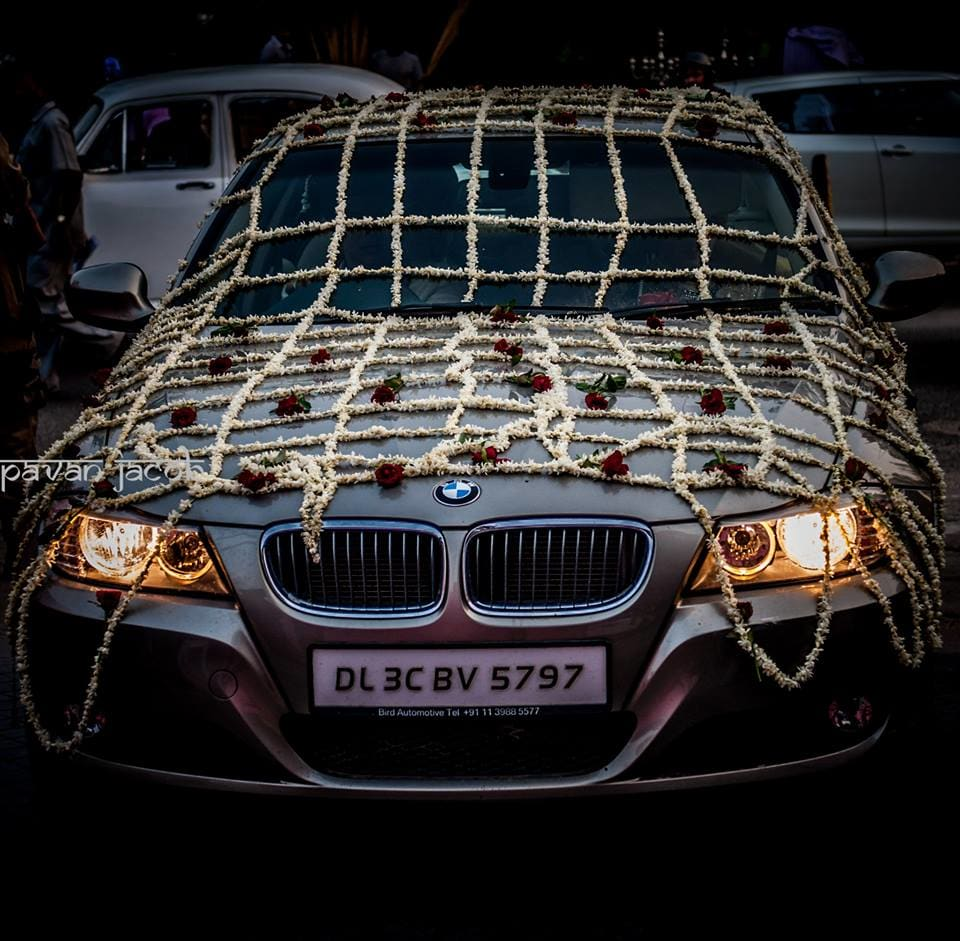 beautiful car decoration:pavan jacob photography