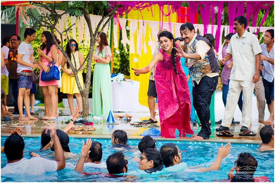 rinky and suhail pool party:the wedding story