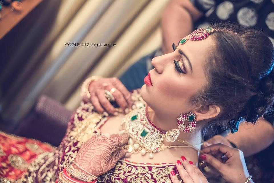 bridal make up:coolbluez photography