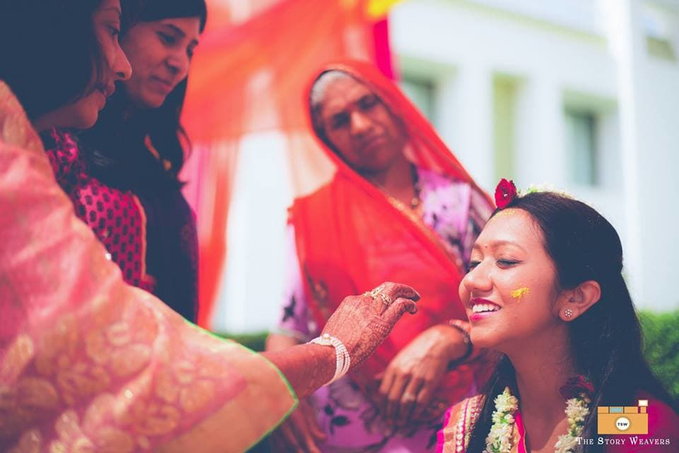 wedding ritual haldi:the story weavers