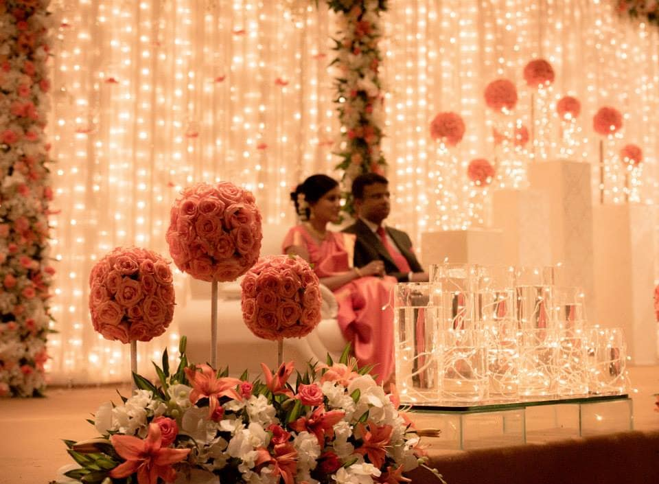 beautiful stage decoration:pavan jacob photography