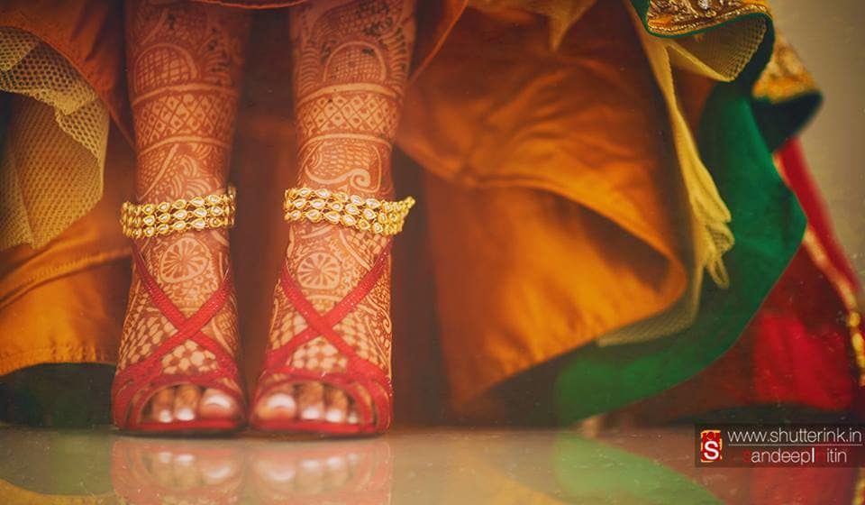 beautiful bridal mehndi:shutterink photography
