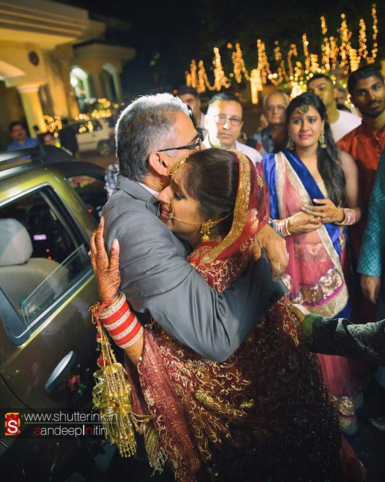 wedding ritual bidaai:shutterink photography