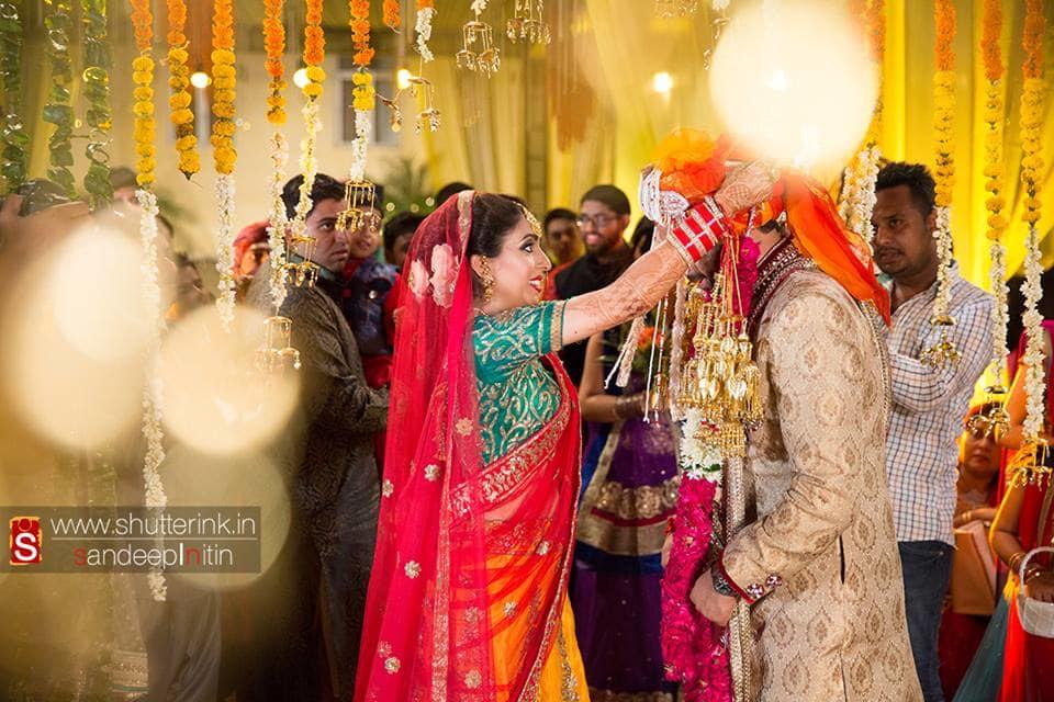 varmala ceremony:shutterink photography