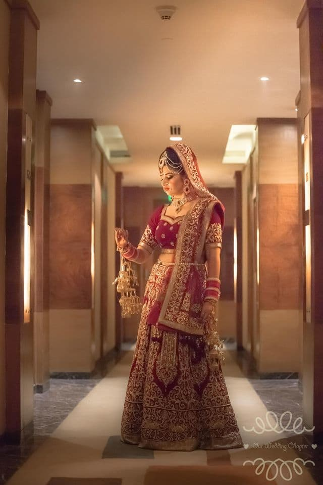 beautiful bridal lehenga:our wedding chapter