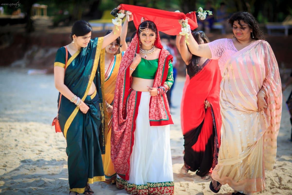 brides entry:namit narlawar photography
