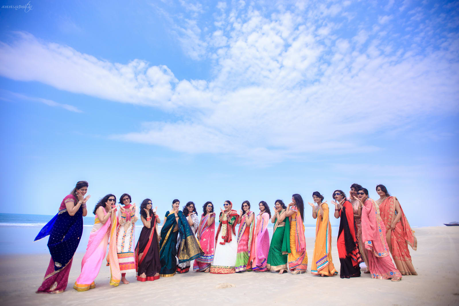 group photography with bride:namit narlawar photography
