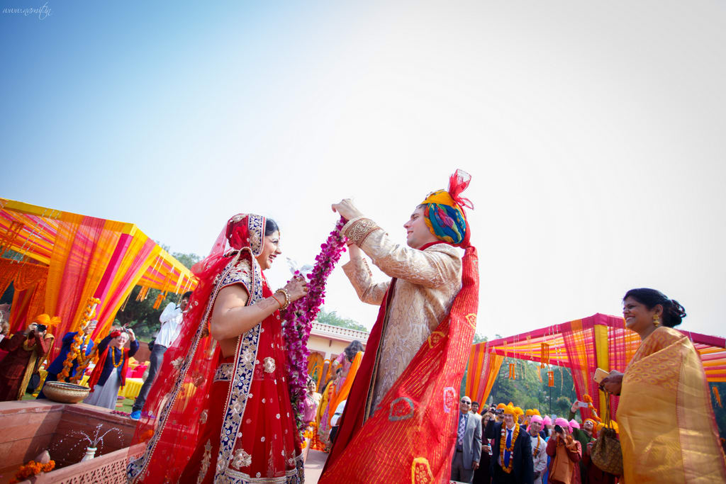 varmala ceremony:namit narlawar photography