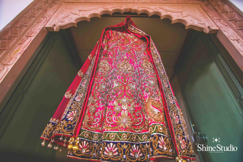 beautiful bridal lehanga:shine studio