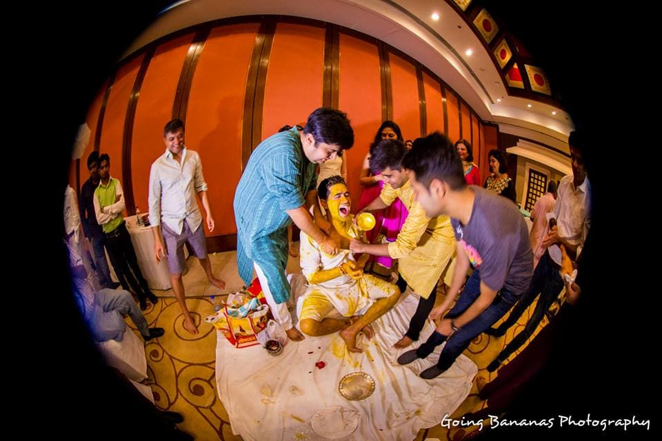 wedding ritual haldi:going bananas photography